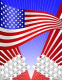 tło patriotyczni usa Obrazy Stock