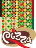 tło pizza Obraz Stock