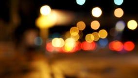 Tło plamy ruch drogowy i samochodowy lihting Bokeh Zdjęcie Stock