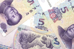 Tło porcelanowa waluta Zdjęcie Stock