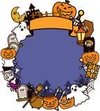tło ramowy Halloween Obraz Stock