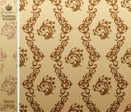 tło rocznik kwiecisty deseniowy bezszwowy Zdjęcie Royalty Free