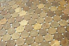 Tło Rosyjskie monety Zdjęcie Stock