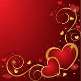 tło serca Obraz Royalty Free