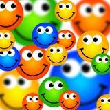 tło smileys Obrazy Stock