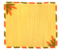 tło spaghetti Zdjęcia Stock