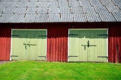 Tło stary dom z drzwiami Fotografia Stock