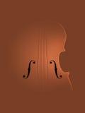 Tło sztuki skrzypce Zdjęcia Royalty Free