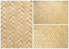 tło tekstura bambusowa koszykowa inkasowa Zdjęcie Royalty Free