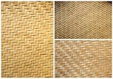 tło tekstura bambusowa koszykowa inkasowa Zdjęcia Stock