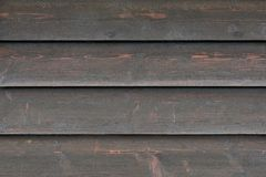 Tło tekstura od zatartych czarnych drewnianych desek, zamyka up Fotografia Royalty Free