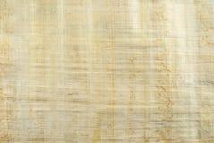 Tło, tekstura: powierzchnia naturalny Egipski papirus Obrazy Royalty Free