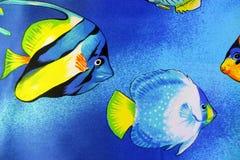 Tło tkaniny tematu nautyczna ryba zdjęcie royalty free