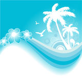 tło tropikalny Obraz Stock