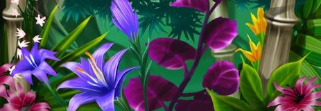 tło tropikalny Obrazy Stock