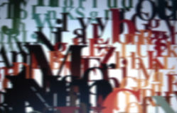 tło typograficzny Obraz Stock