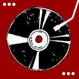 tło winyl dokumentacyjny czerwony ilustracja wektor