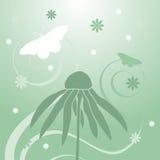 tło wiosna motylia kwiecista Obrazy Royalty Free