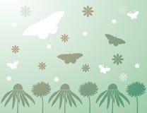 tło wiosna motylia kwiecista Obraz Royalty Free