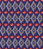 Tło z abstrakcjonistycznym rhombus i kwiatami Zdjęcia Stock