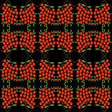 Tło z abstrakcjonistycznym rowan jagody wzorem Zdjęcia Royalty Free