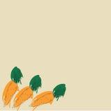Tło z abstrakcjonistycznymi marchewkami Obrazy Stock
