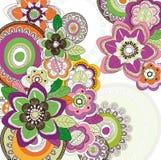 Tło z Barwionymi kwiatami Zdjęcia Royalty Free