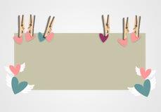 Tło z clothespins Obrazy Royalty Free