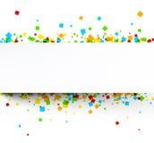 Tło z colour kwadratami Obrazy Royalty Free