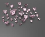 Tło z czerwonymi gemstones ilustracja 3 d zdjęcie stock