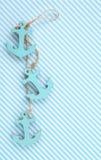 Tło z dekoracyjnymi kotwicami Zdjęcie Stock