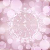 Tło z eleganckim zegarem Zdjęcie Stock