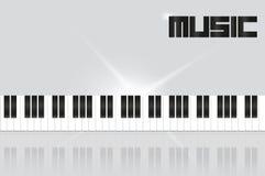 Tło z fortepianowymi kluczami Royalty Ilustracja