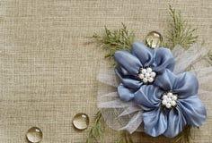 Tło z handmade kwiatami Obrazy Royalty Free