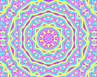 Tło z jaskrawym kolorowym koncentrycznym wzorem Zdjęcia Stock