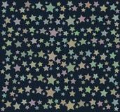 Tło z kolorowymi gwiazdami Zdjęcie Royalty Free