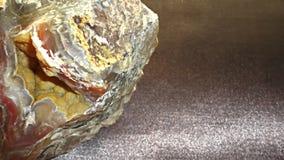 Tło z kopalnymi agat geologii kopalinami zdjęcia stock