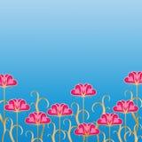 Tło z kwiatami Obraz Stock