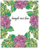 tło z kwiatami i tekstów podpowiedziami Obraz Stock