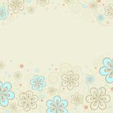 tło z kwiecistymi ornamentami Obraz Stock