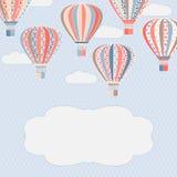 Tło z lotniczymi balonami Zdjęcie Royalty Free