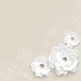 Tło z papierowymi kwiatami Fotografia Royalty Free