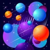 Tło z planetami i gwiazdami Obraz Royalty Free