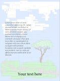 Tło z prawym drzewem Royalty Ilustracja