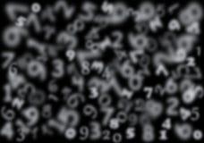 Tło z przejrzystymi liczbami. Zdjęcie Stock