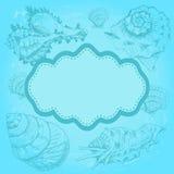 Tło z seashells Obrazy Royalty Free