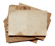 Tło z starymi papierami i listami Zdjęcia Stock