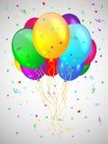 Tło z stubarwnymi balonami. Zdjęcia Royalty Free