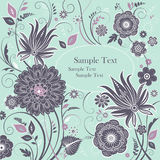 Tło z stylizowanymi kwiatami Obrazy Royalty Free