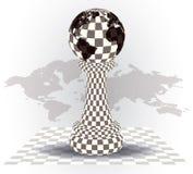 Tło z szachowym pionkiem ilustracji